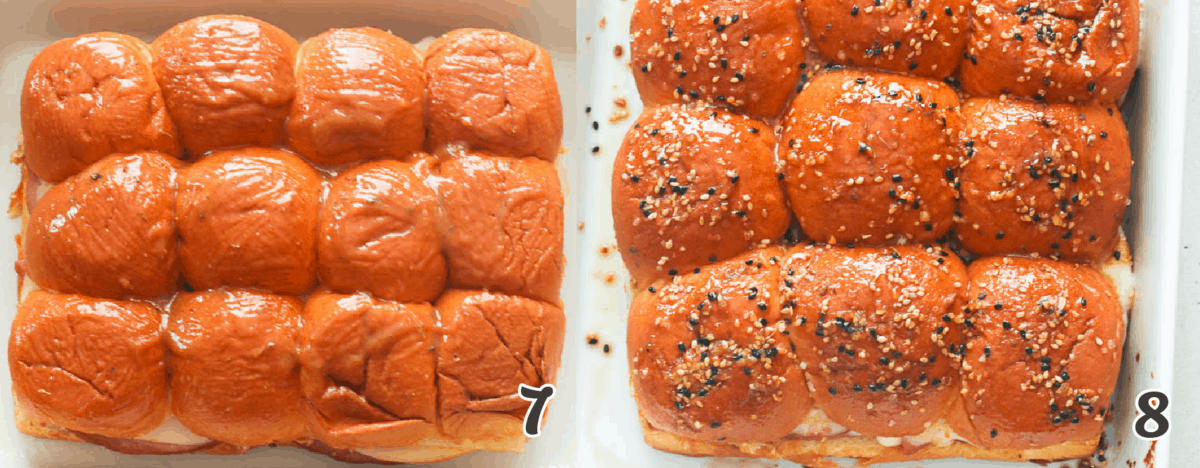 Sliders with poppy seeds