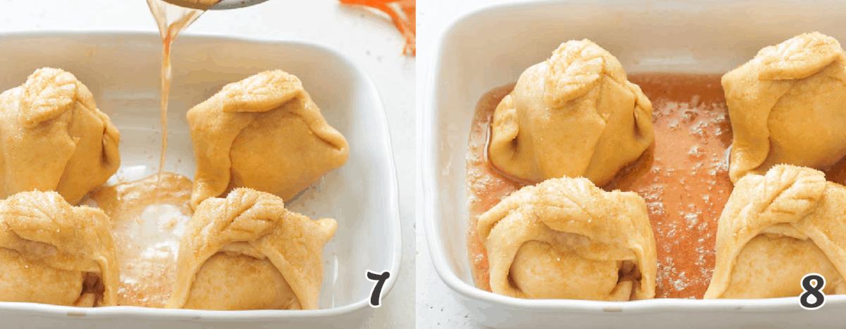 Baking Apple dumplings