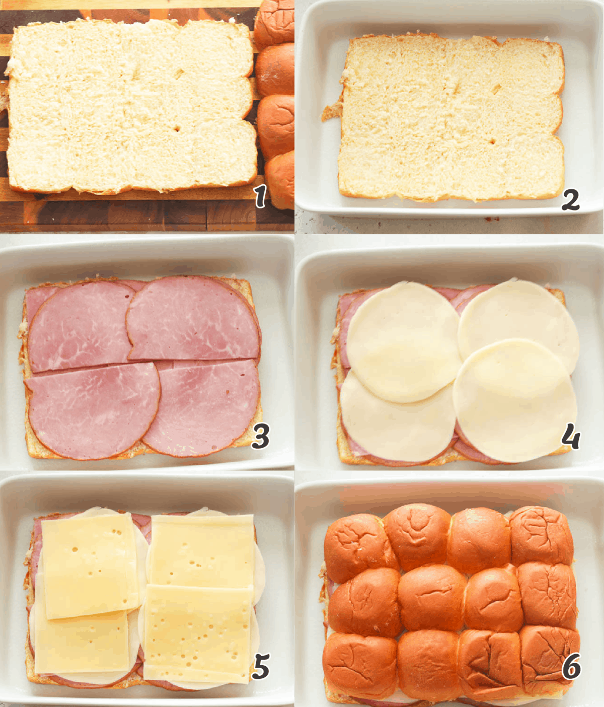 ham and cheese slider assembly