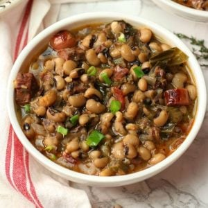 Instant Pot Black Eyed Peas served in a bowl