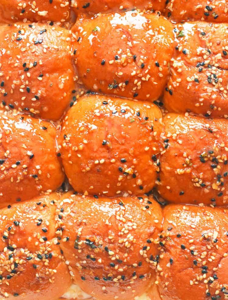 Ham and Cheese Sliders with Homemade Everything Bagel Seasoning