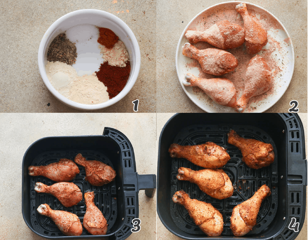 hOW TO AIR FRY CHICKEN LEGS
