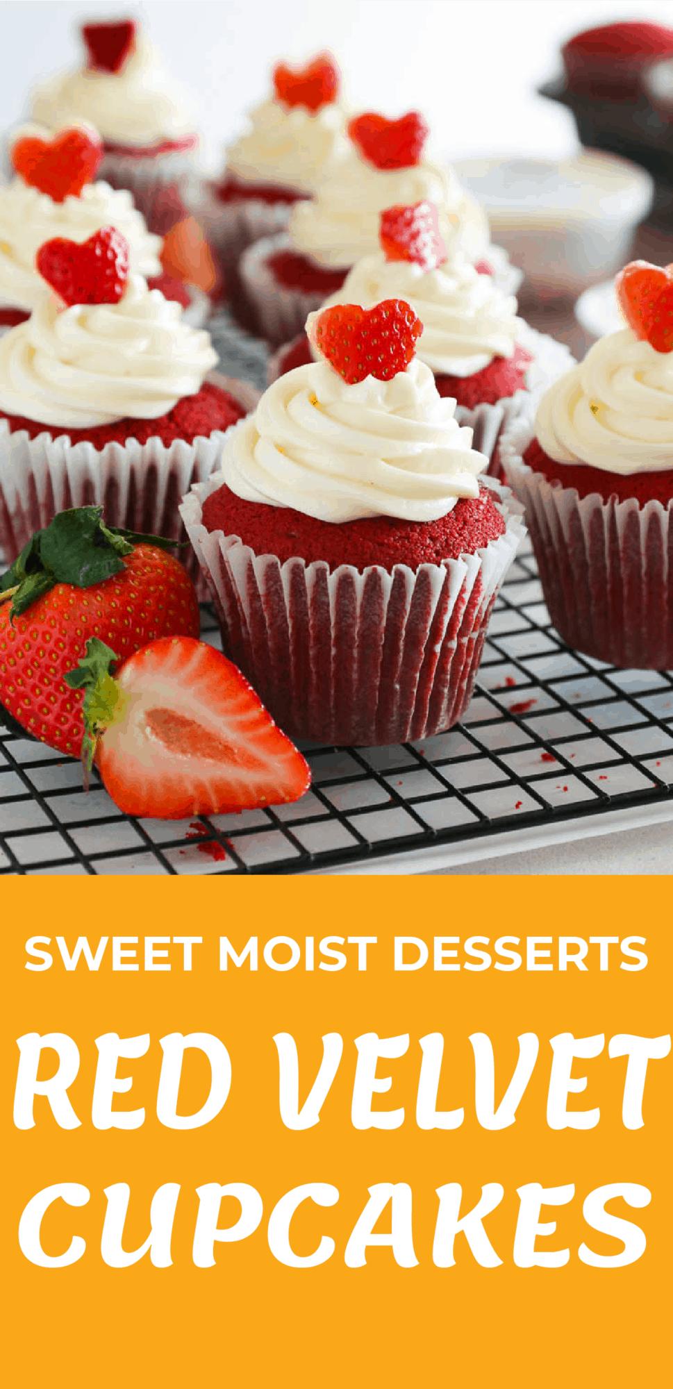 Sweet Moist Desserts Red Velvet Cupcakes