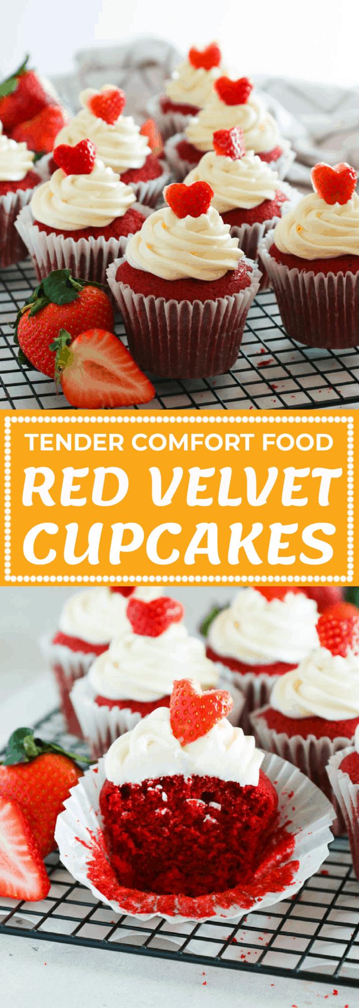 Red Velvet Cupcakes Tender Comfort Food