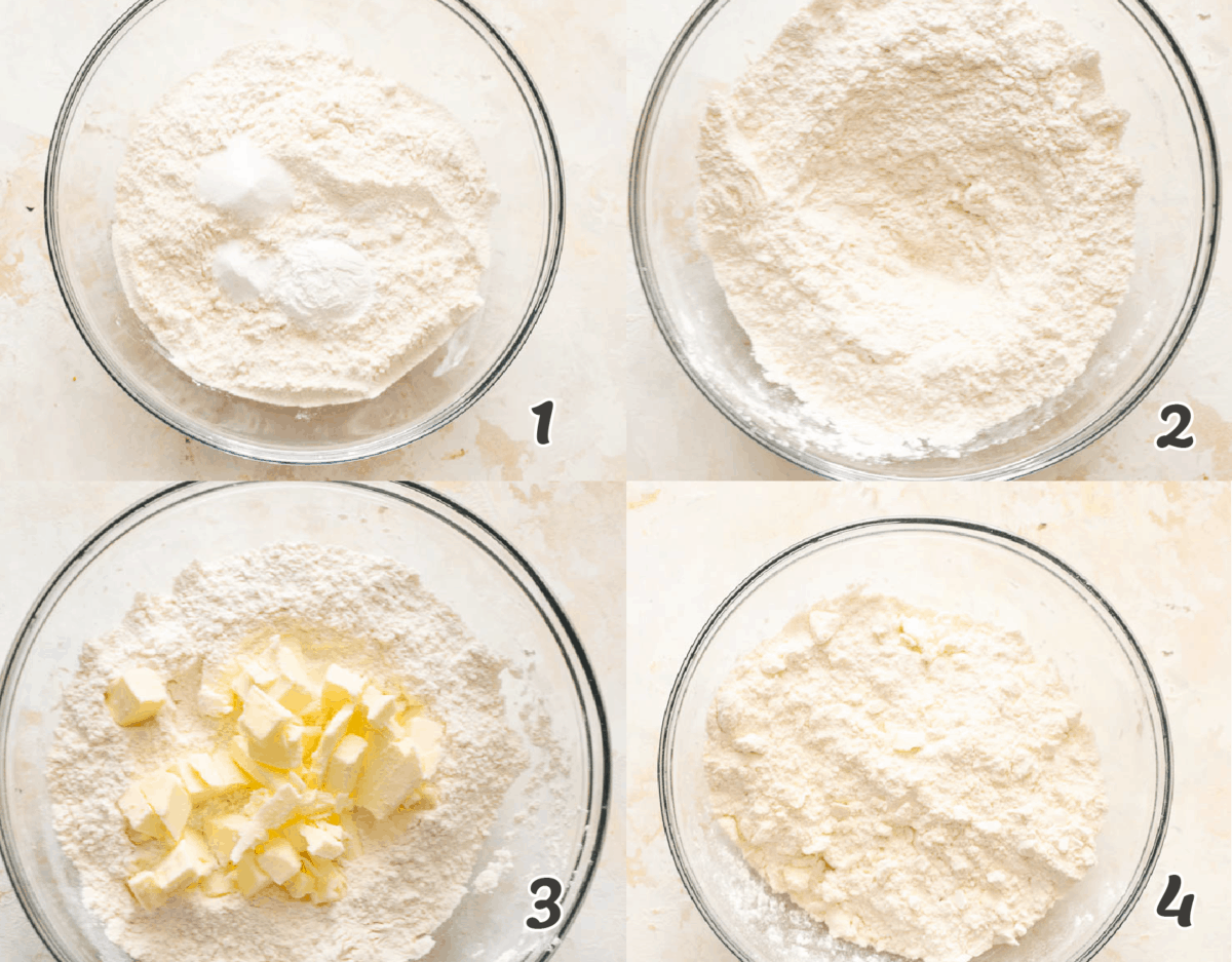 Step to make Cathead Biscuits