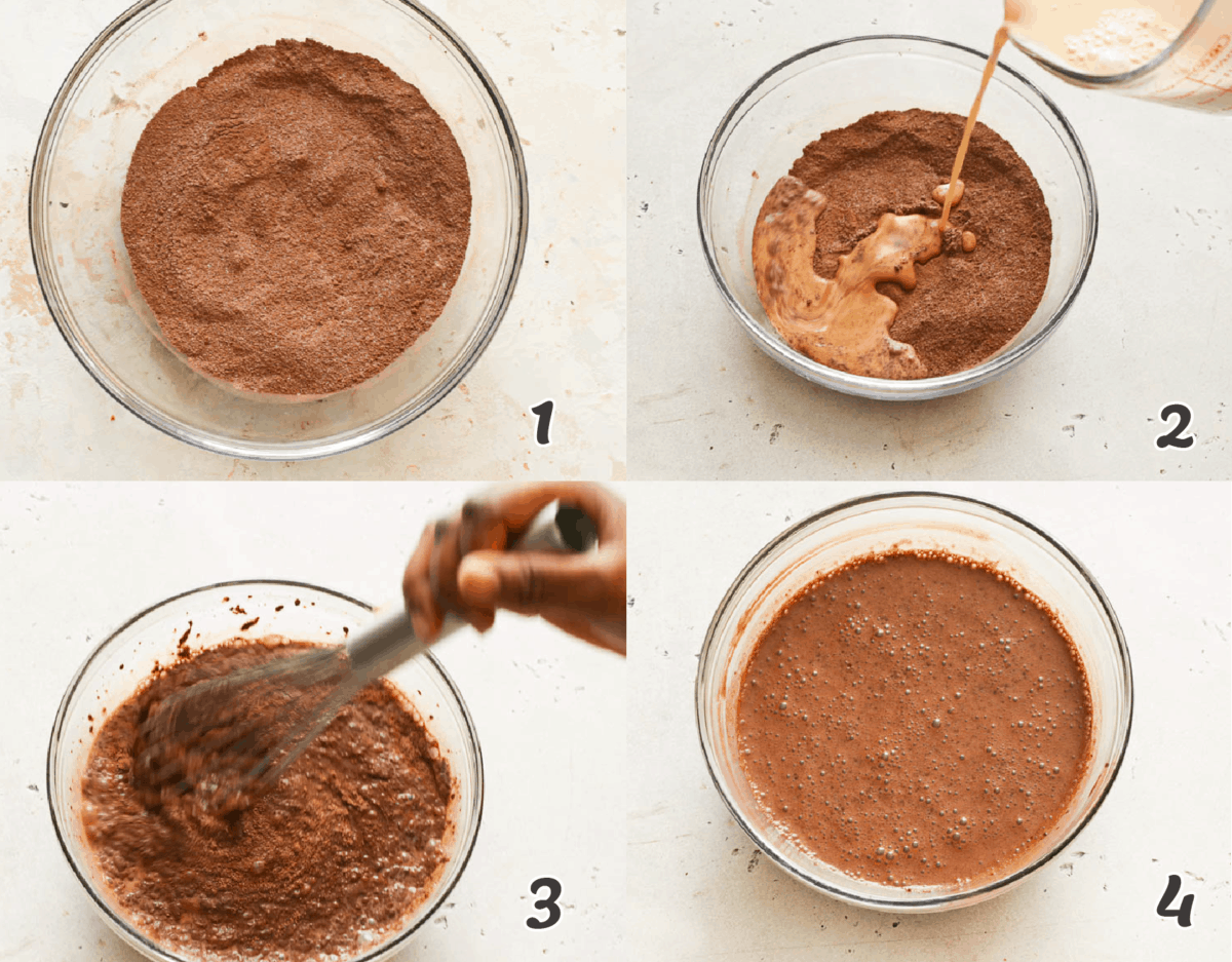 steps in making chocolate sauce