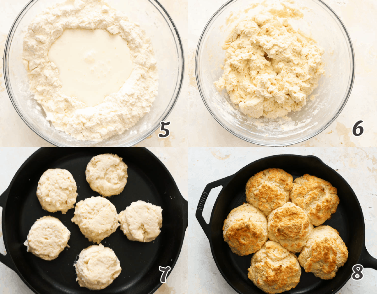 steps to make cathead biscuits