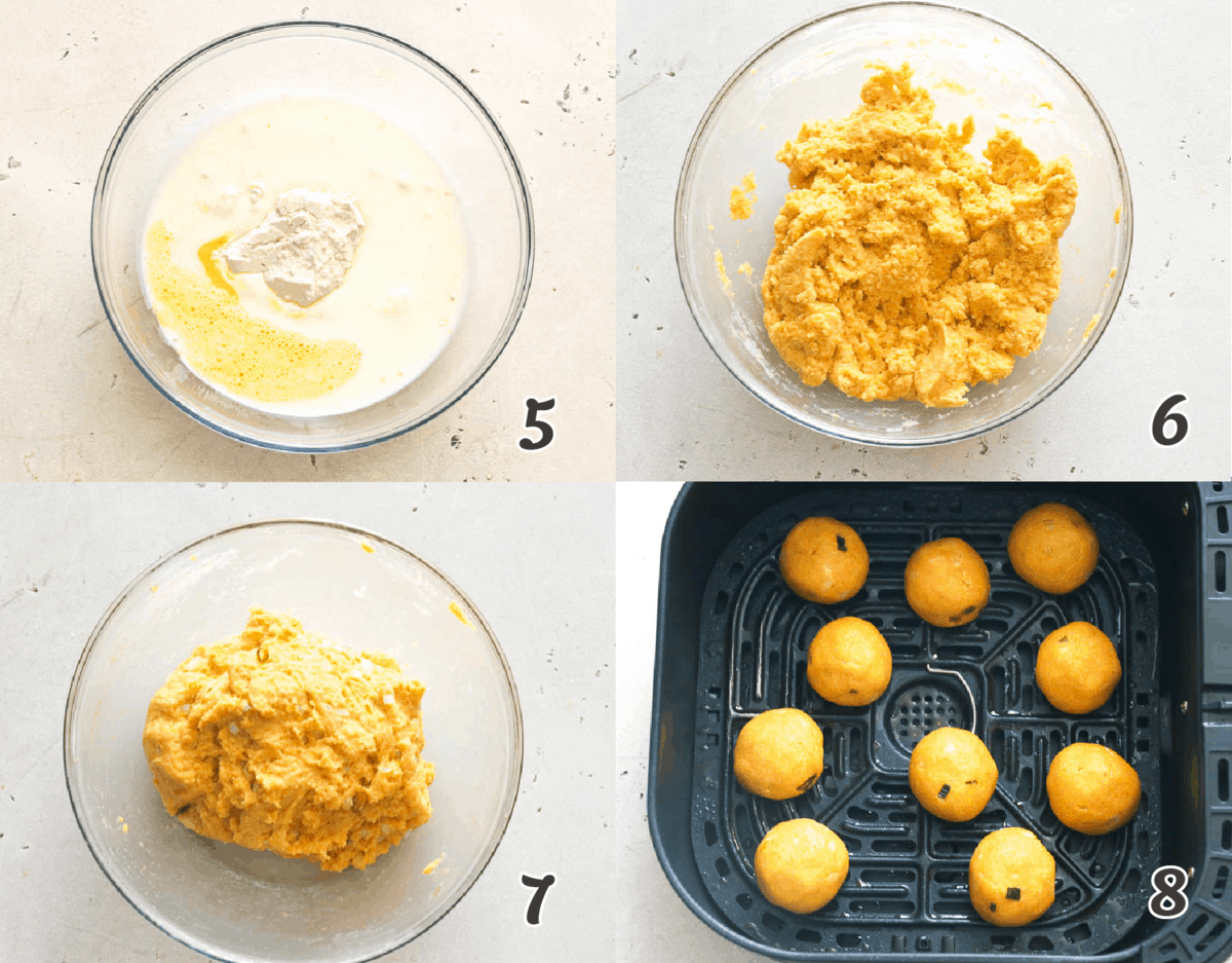 How to make Air fryer hush puppies instructions