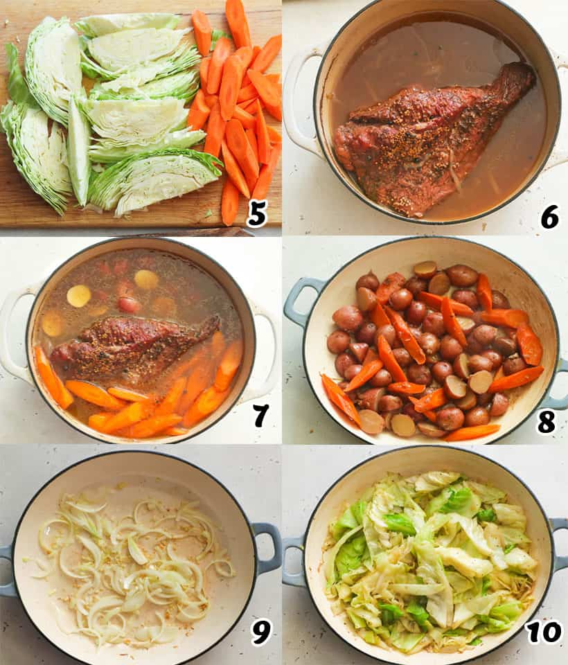 Cooking Corned Beef with Veggies