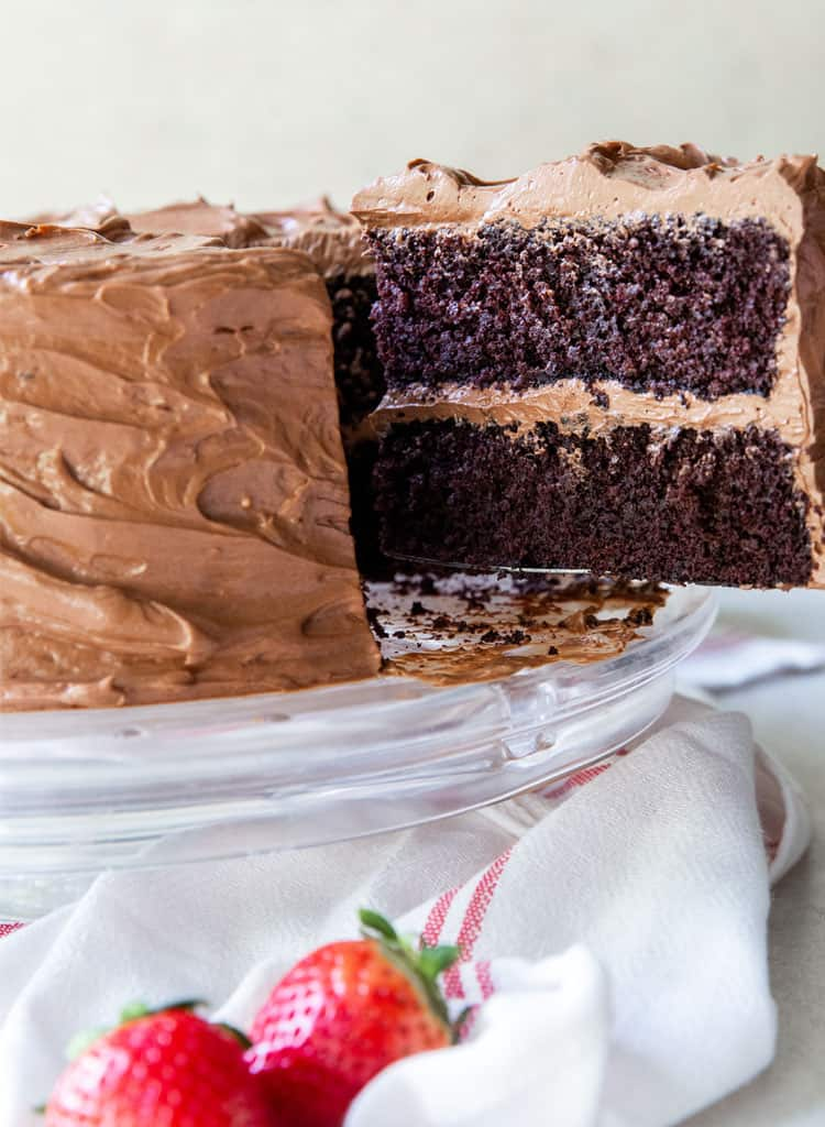 Devil's Food Cake Slice