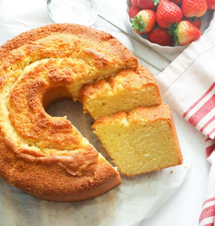 Sliced Southern Pound Cake