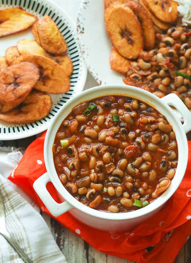 A White Bowl of Red Red (African Stewed Black-eyed peas)