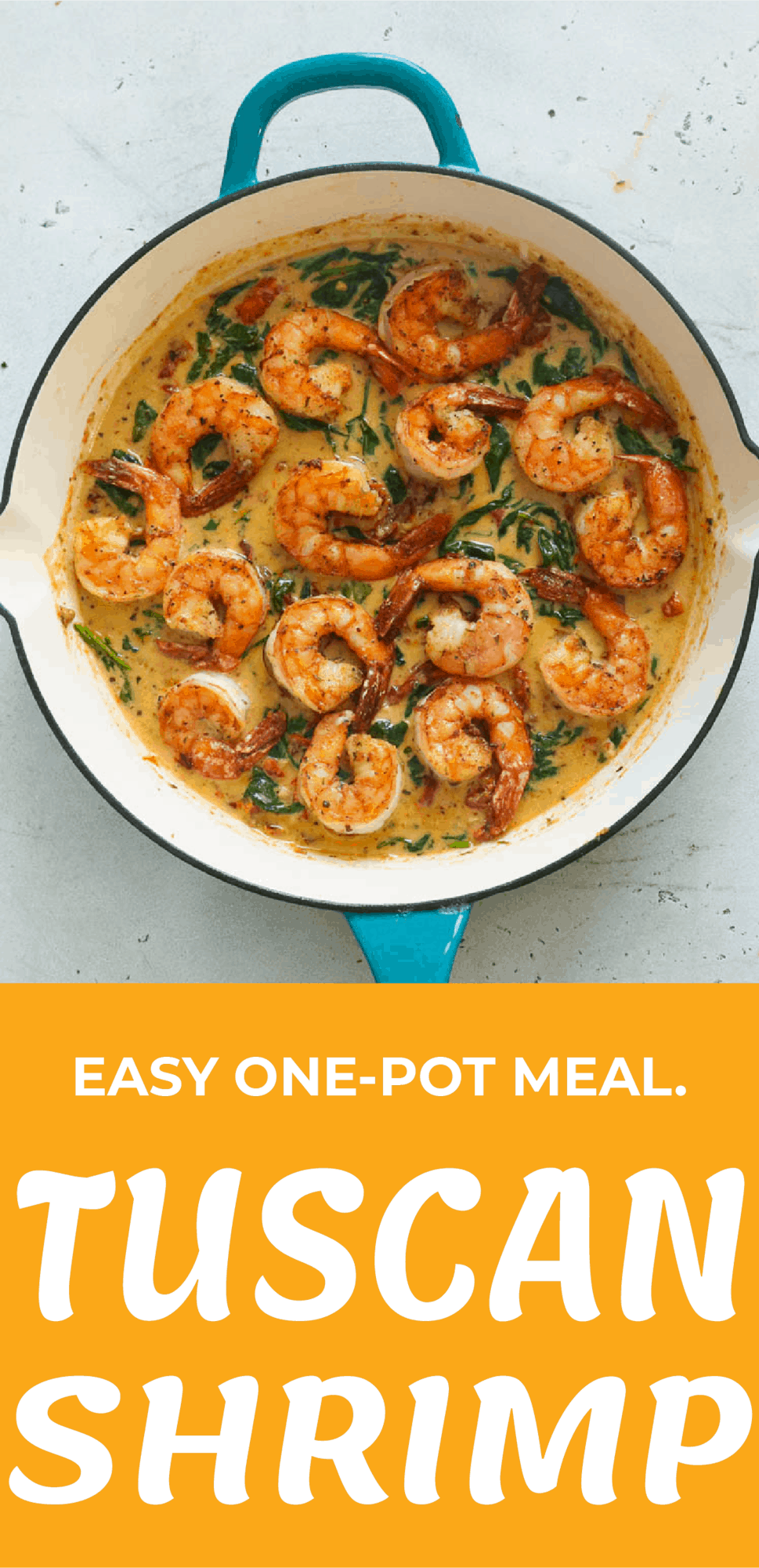 Easy One-Pot Meal Tuscan Shrimp