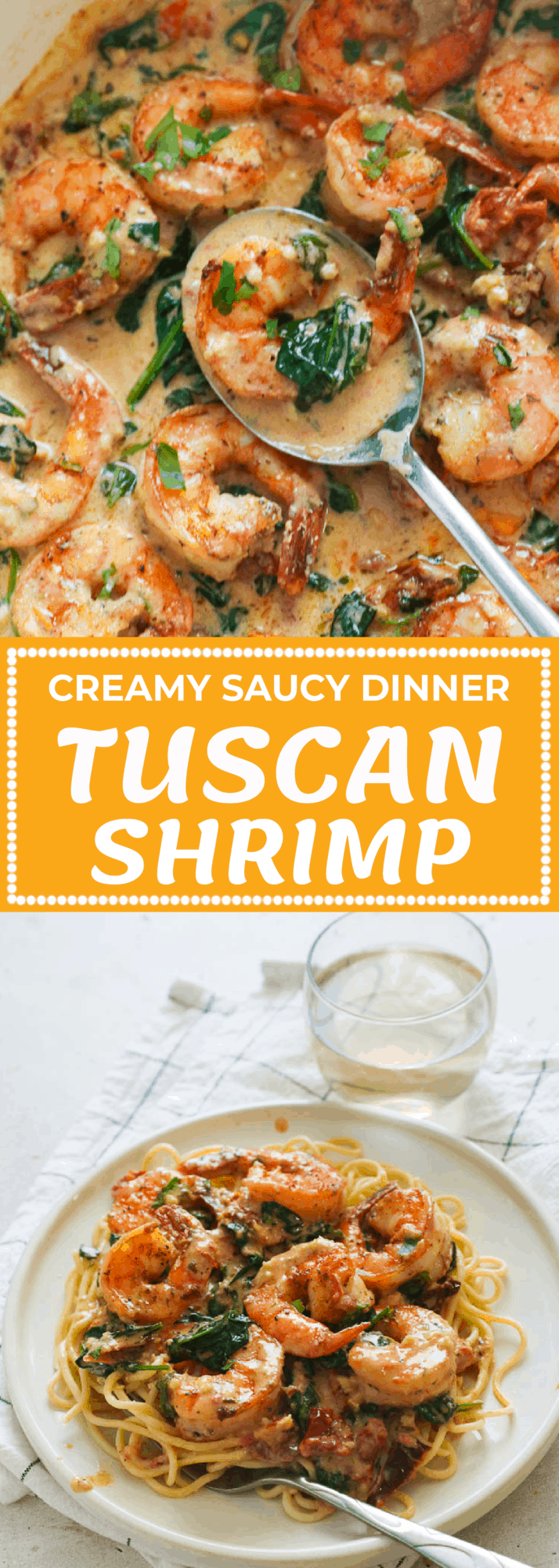 creamy saucy dinner Tuscan Shrimp