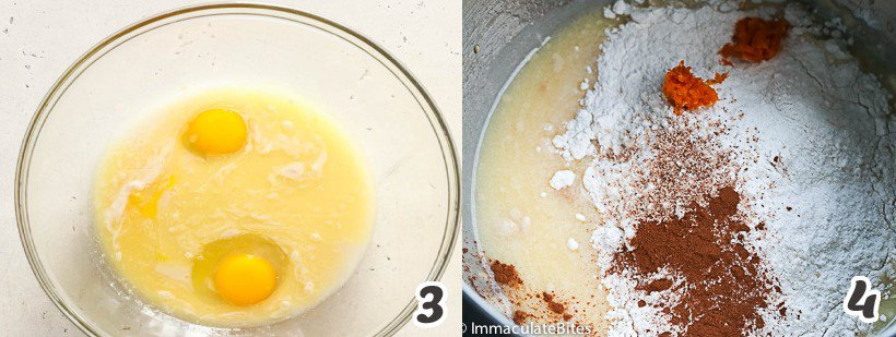 adding the egg to the yeast mixture