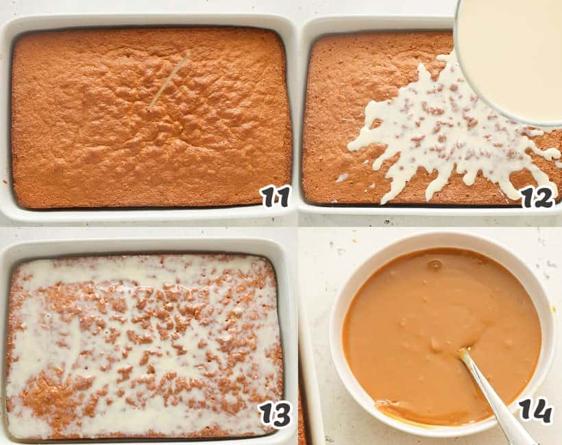 Leches Cake Instruction Collages