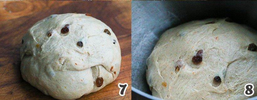 Dough with Raisins