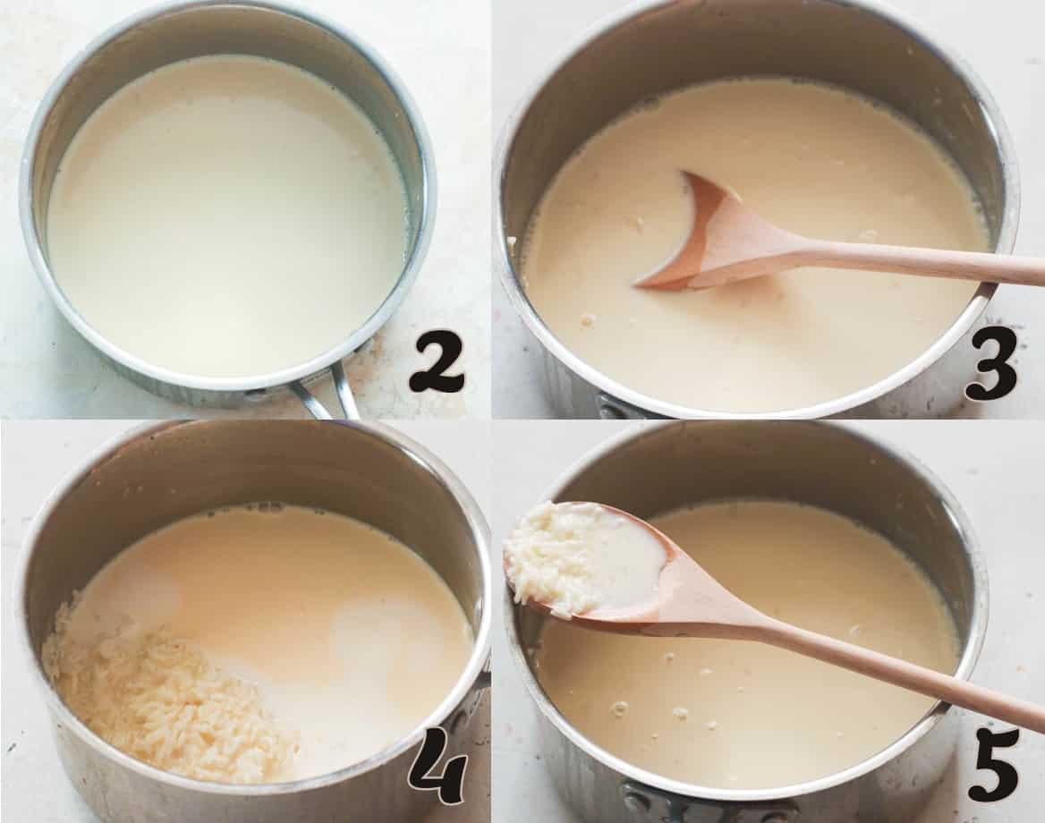 Adding the milk