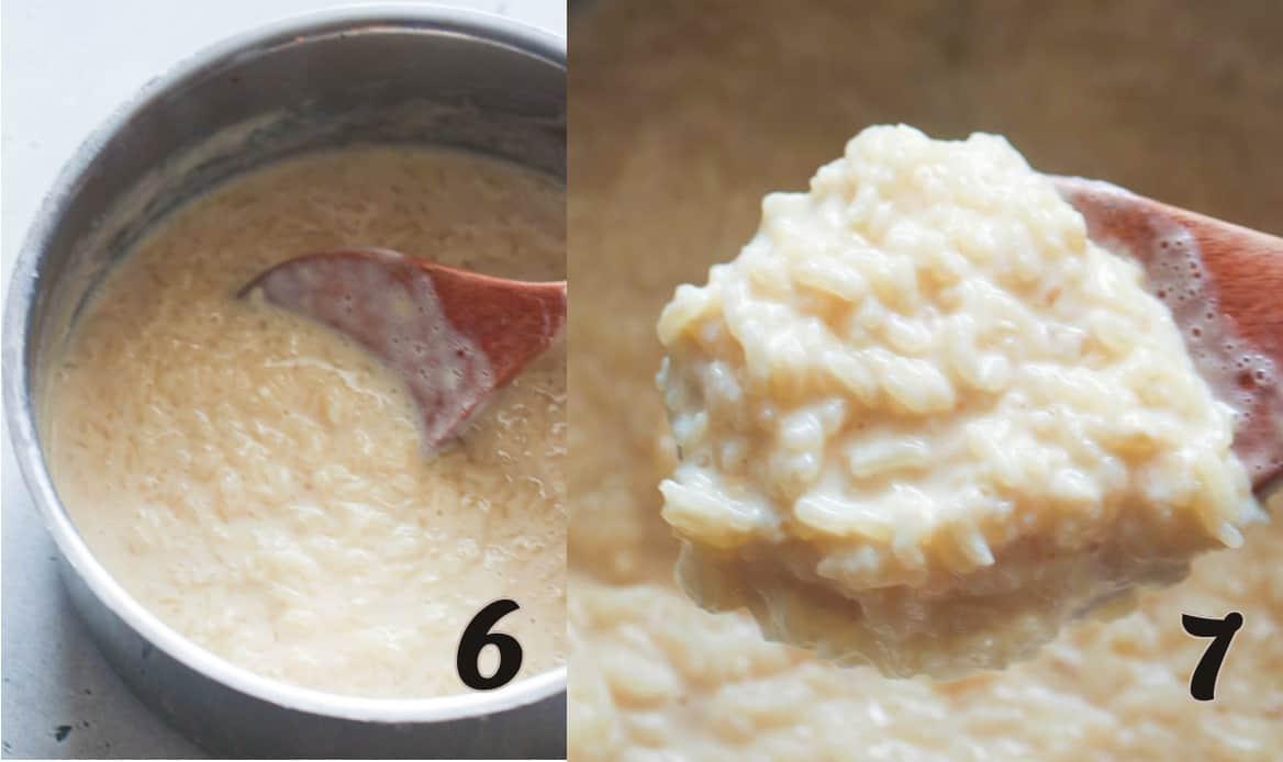 Cook until creamy