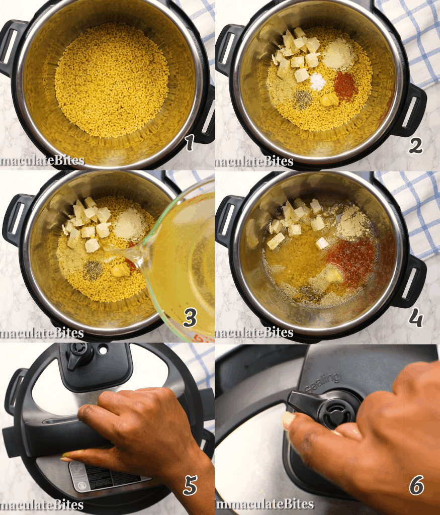 Instant pot macarCooking the macaroni in an instant potoni and cheese