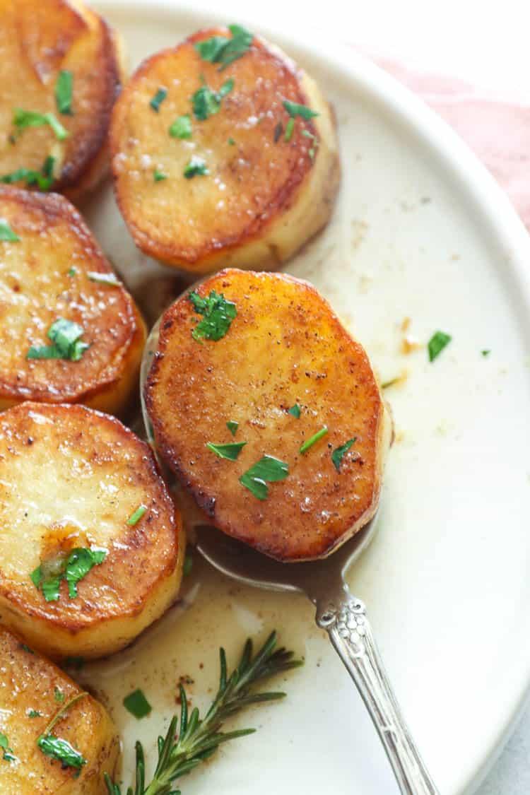 potato on a spoon