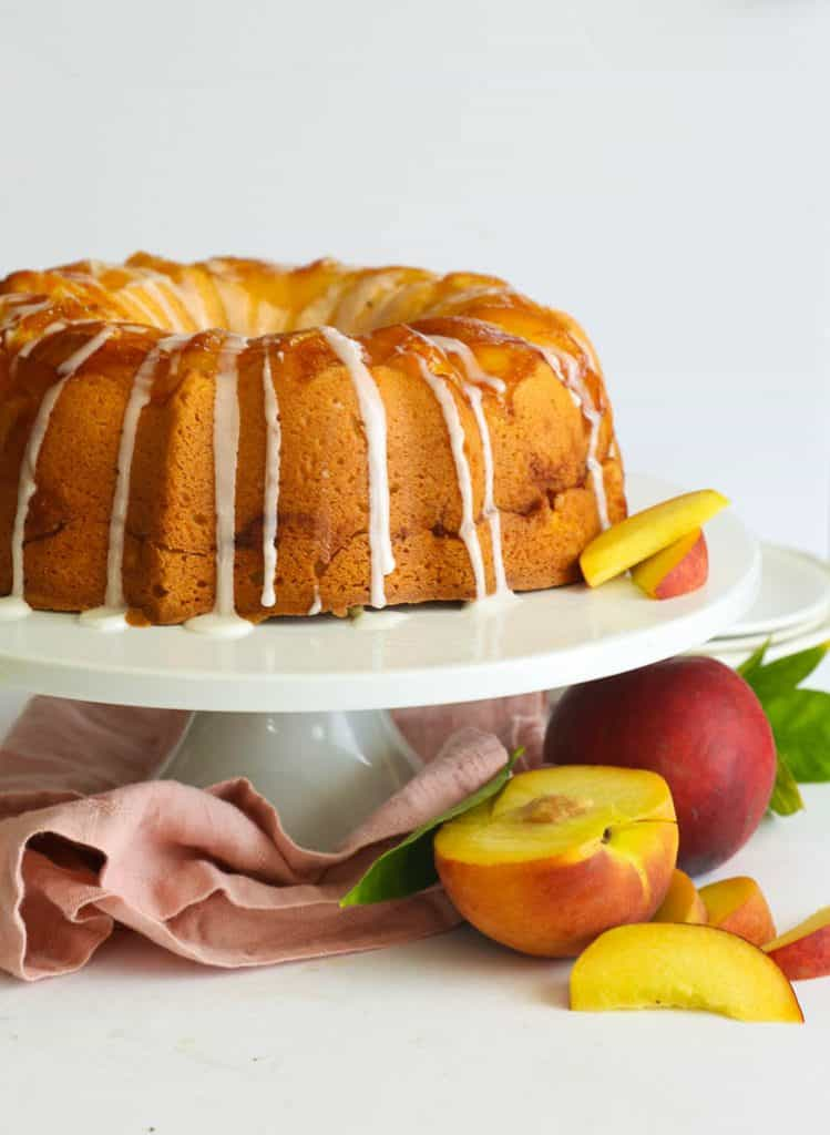 Fruit Dessert - Peach Cobbler Pound Cake