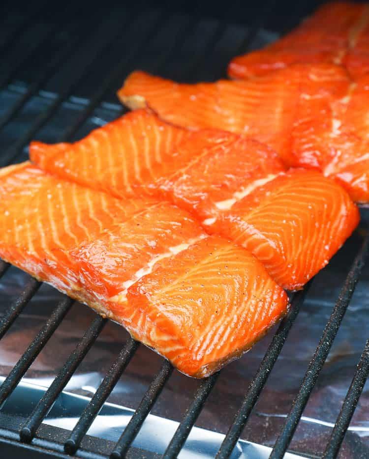 smoking salmon brined with dry rub