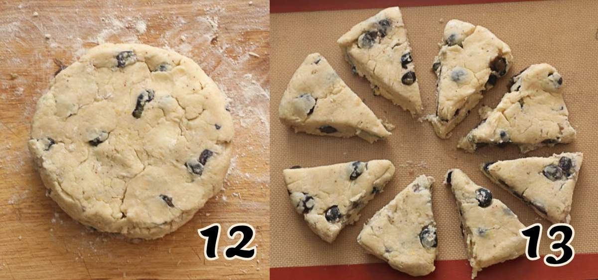Forming and Cutting the Scones