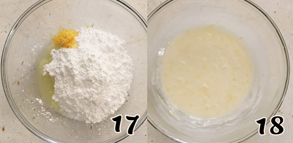 Mixing the Lemon Glaze