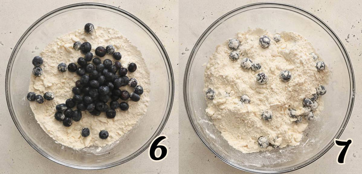 Adding the Blueberries