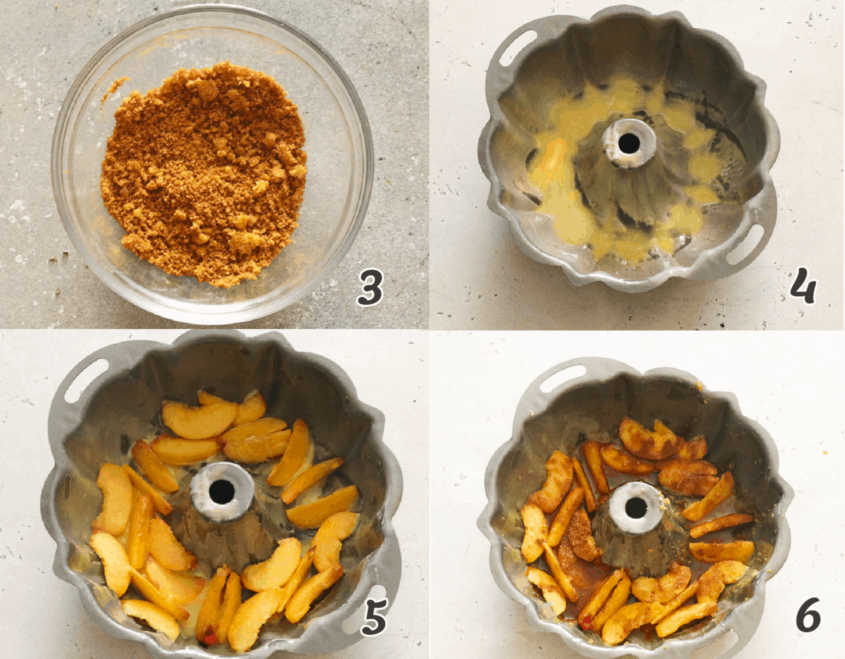 Cinnamon on peaches