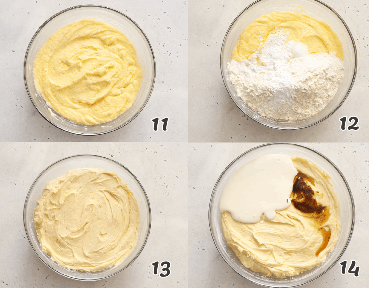 making pound cake batter from scratch