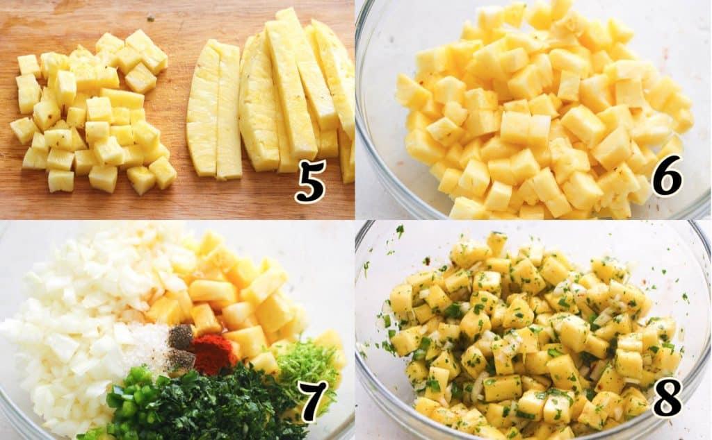 Pineapple Salsa Instructions 5-8