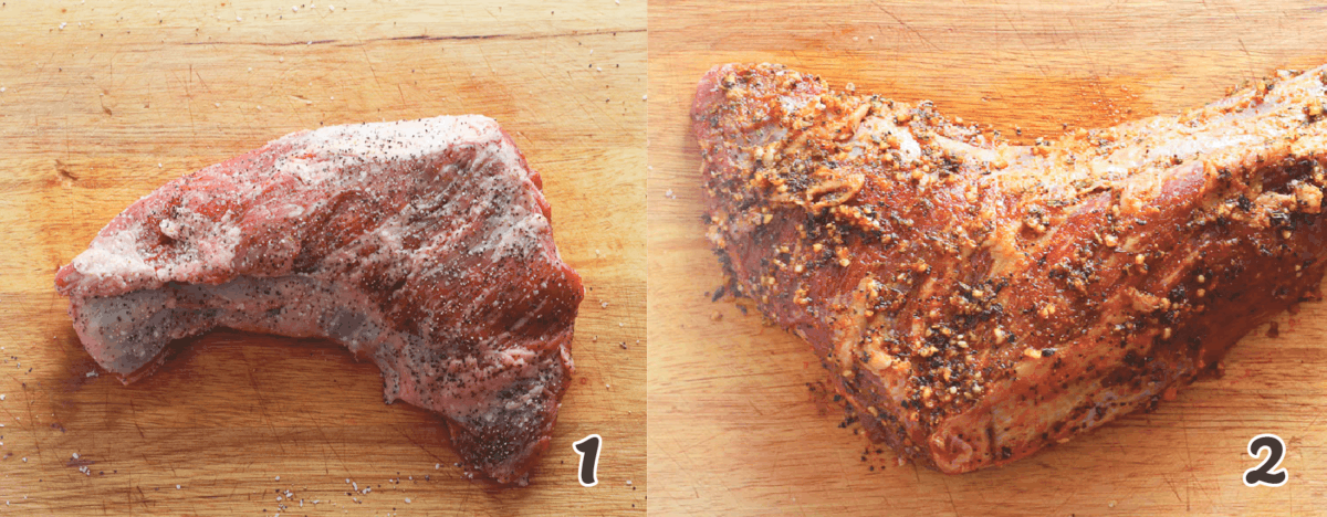 raw tri tip marinated for smoking