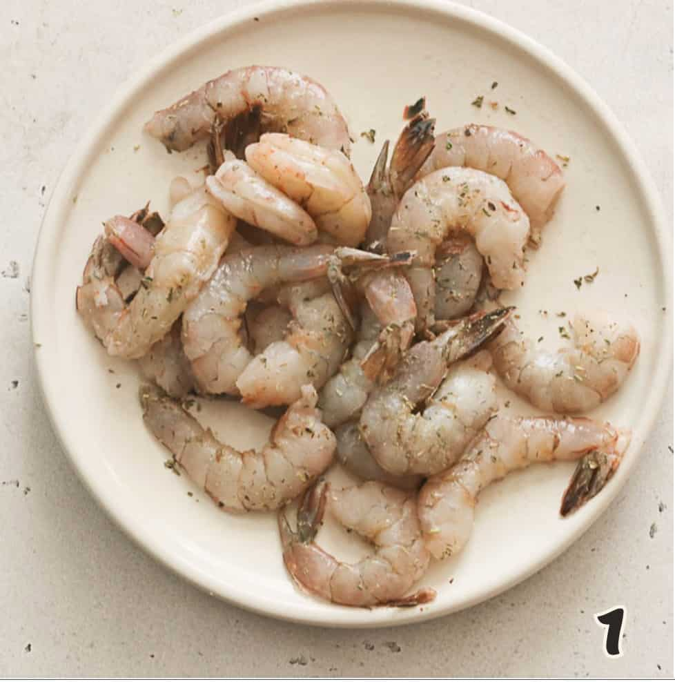 Preparing the Shrimp