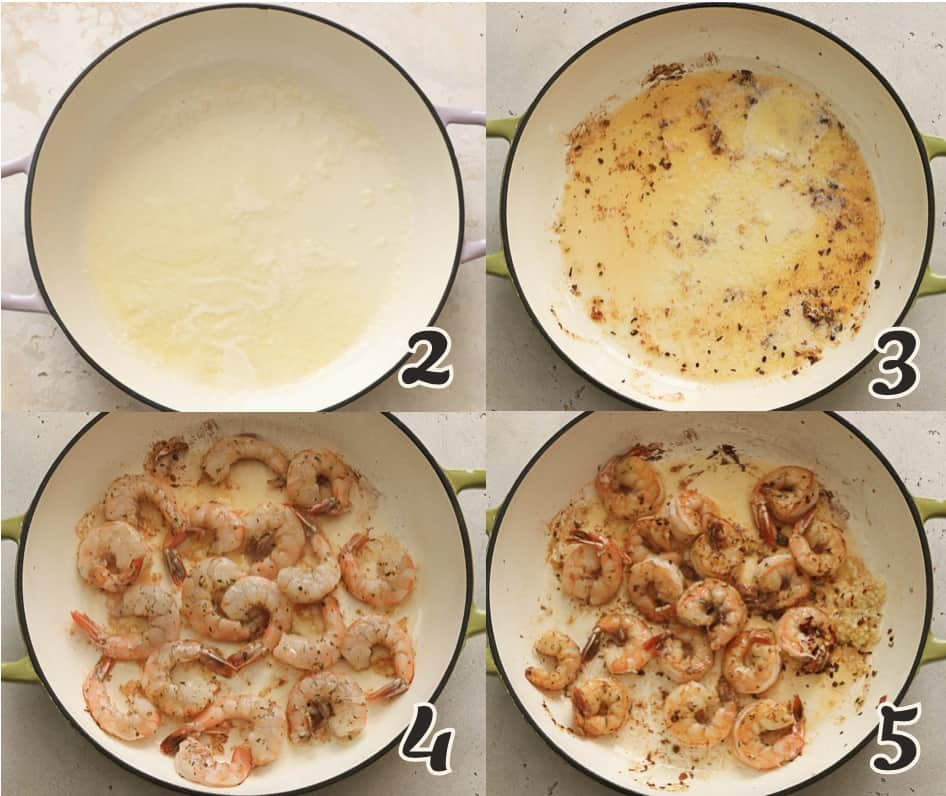 Sautee the Shrimp in Butter