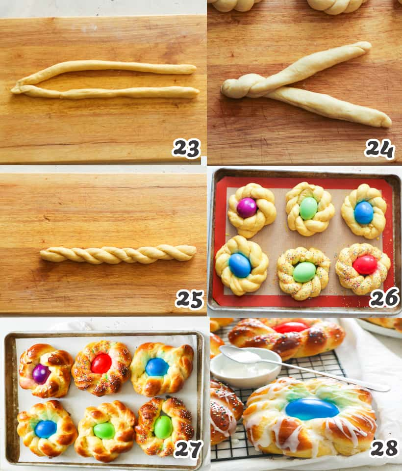 How to Make Individual Easter Bread