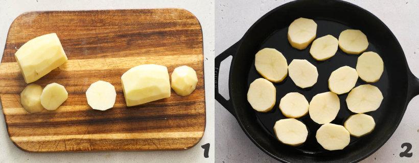 how to make fondant potatoes step 1 and 2