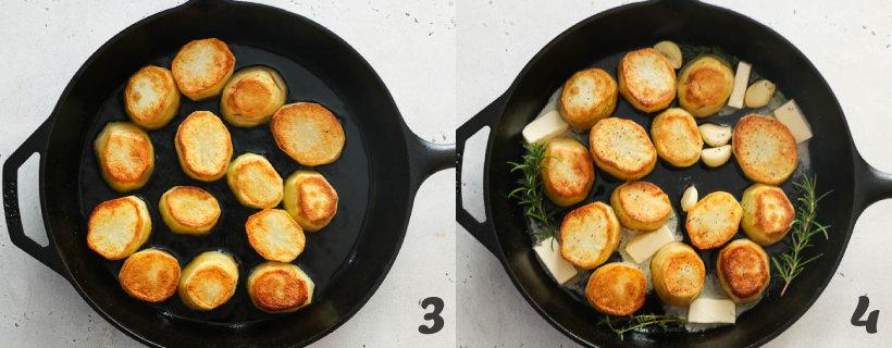 how to make fondant potatoes step 3 and 4