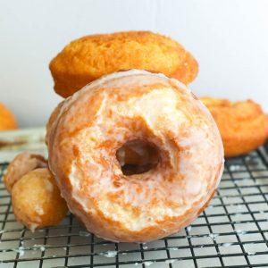 glazed donut front view