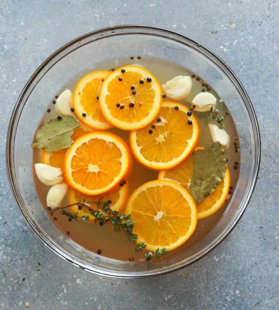 Brine Ingredients in a bowl