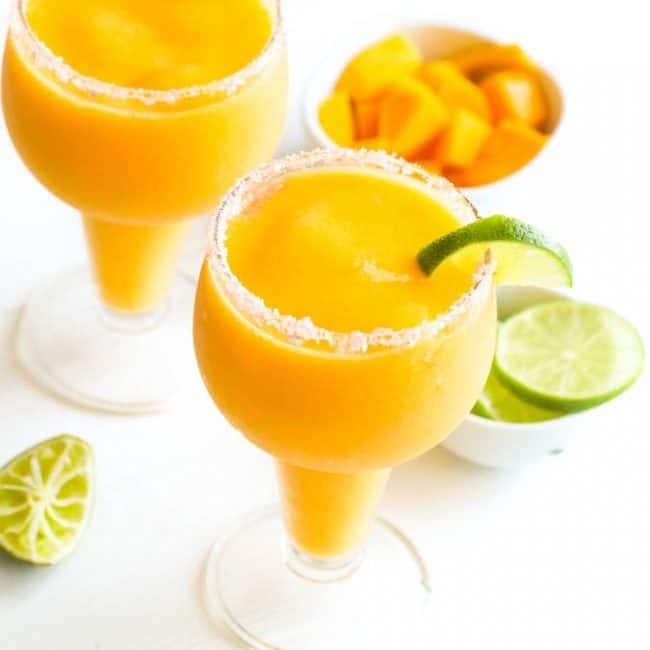 Two Frozen Mango Margaritas