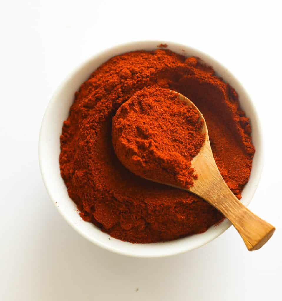 Ground Paprika in a bowl