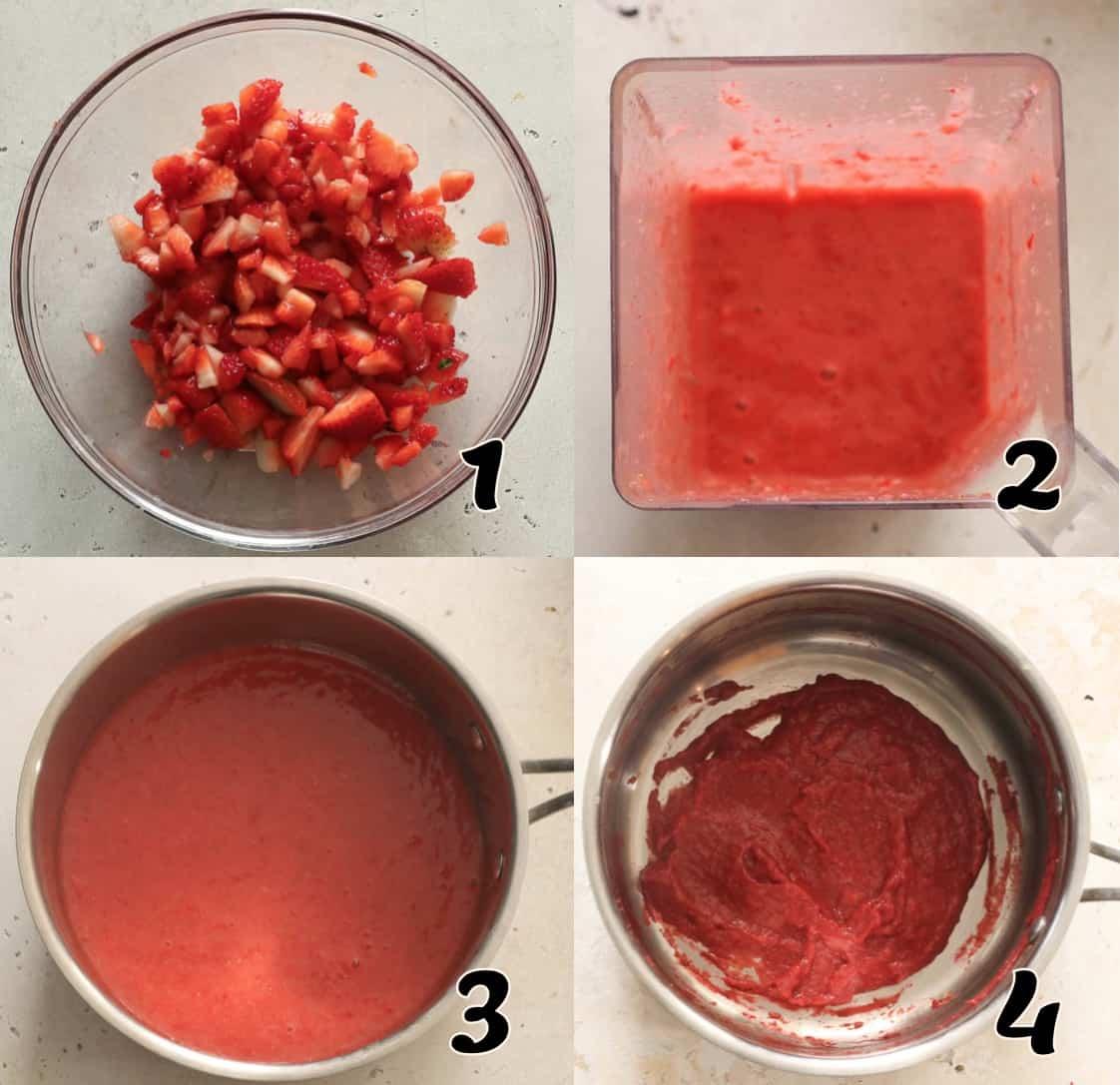 Making the Strawberry Puree