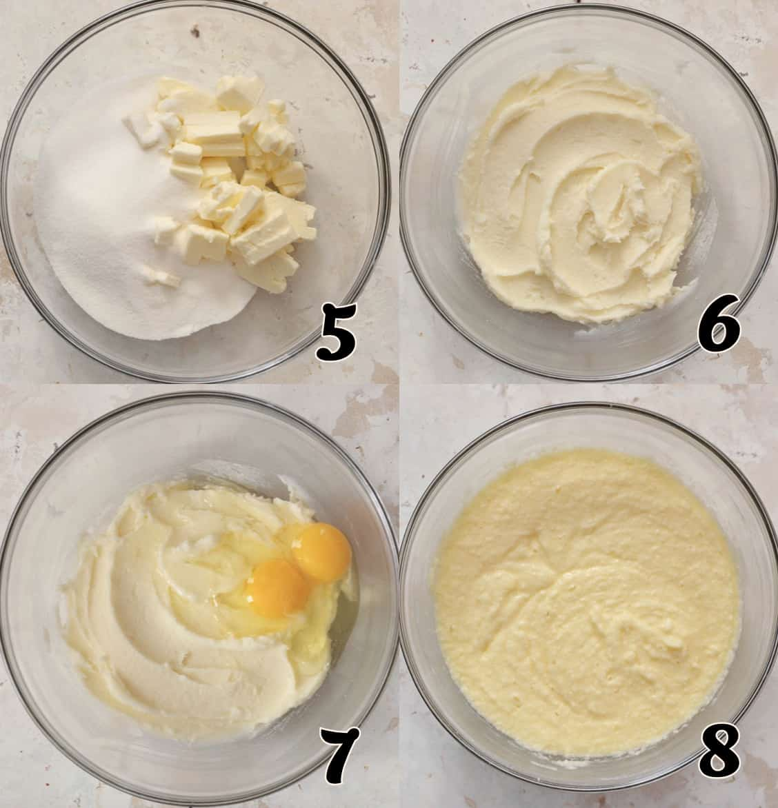 Making the Pound Cake Batter