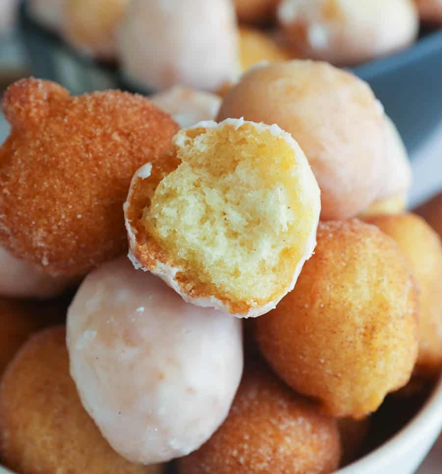 a pile of donut holes