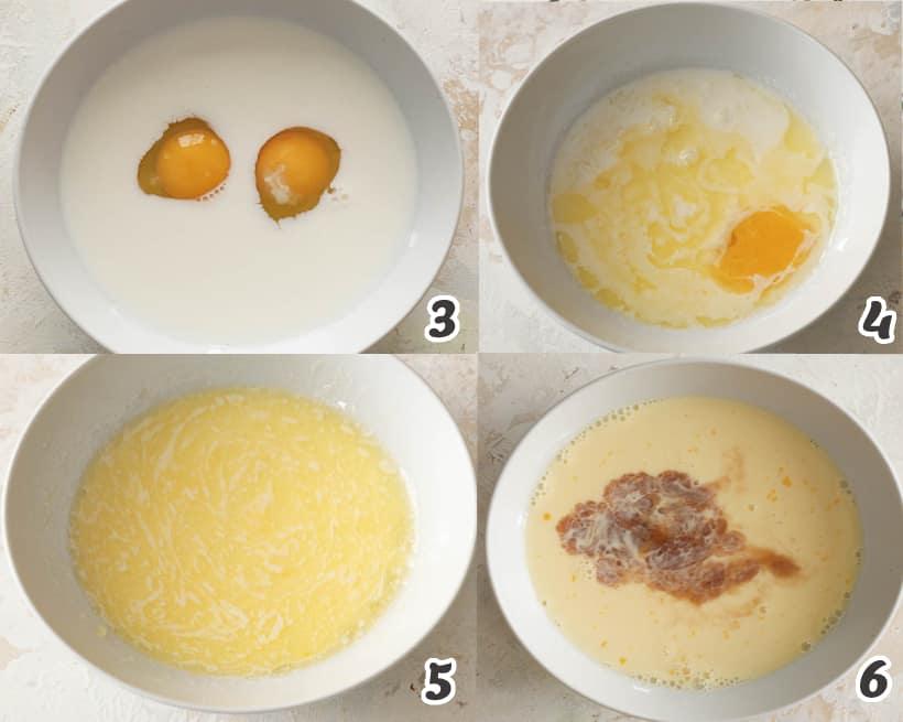 Combining wet ingredients of donut holes