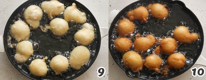 frying donut holes