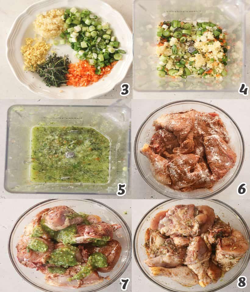 marinating chicken in jerk marinade