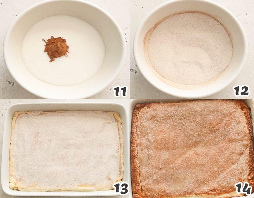 how to make the last layer of sopapilla cheescake bars